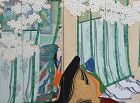 A pair of Taisho p. screens by Ogyu Tensen c. 1920 A