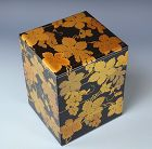Antique Japanese Lacquered Stacking Box, Grapes