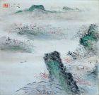 Silk Scroll by Shirakura Niho, Among Spring Blossoms
