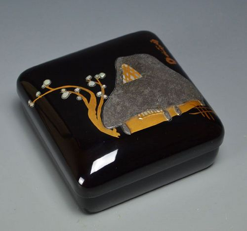 Small Rimpa Based Lacquer Box by Kamisaka Sekka
