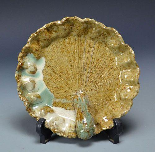 Rare Maiko Yaki Mingei Pottery Plate