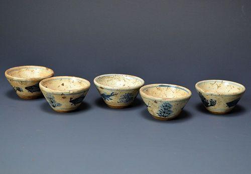 Rare Sanda-yaki Shidehara Gyokuro Tea Cup Set