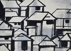 Miwa Chosei Post-war Japanese Art Scroll