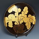 Antique Japanese Lacquered Wooden Tray