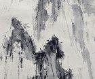 Crags, A Painting by Fujii Tatsukichi