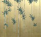 Antique Japanese Screen, Bamboo on Gold by Shunpo