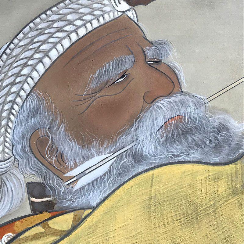 Ainu by Higuchi Tomimaro, Nitten Exhibited Screen Set