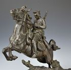 Bronze Figure, General Nogi on Horseback by Ito Kunio