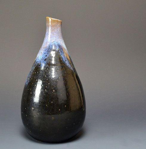 Antique Japanese Edo p. Satsuma Tokkuri Sake Flask