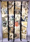 Antique Japanese Hand-Painted Silk Tapestry