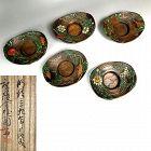 Kinjo Ikkokusai III Chataku Lacquered Tea Saucers