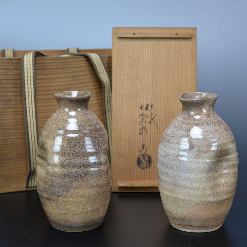 Hagi Tokkuri Set by Sakakura Shinbei XII