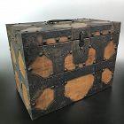 Rare Antique Japanese Iron Bound Ballot Box