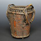 Antique Japanese Karamono Bamboo Basket