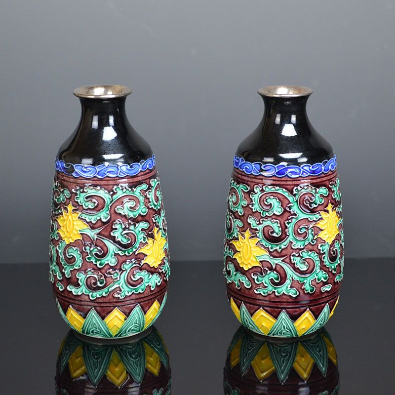 Antique,Japanese Eiraku Zengoro Porcelain Tokkuri Set