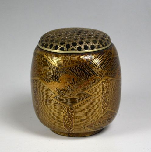 16th-17th century Japanese Lacquer Koro Incense Burner