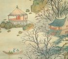 Yano Tetsuzan Taisho p. Autumn Silk Landscape Scroll