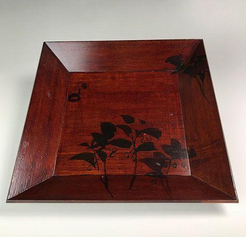 Lacquered Wooden Tray Decorated by Kamisaka Sekka