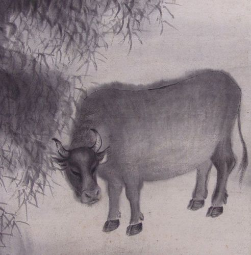 Winter Screen by Yasuda Hanpo for the Year of the Ox