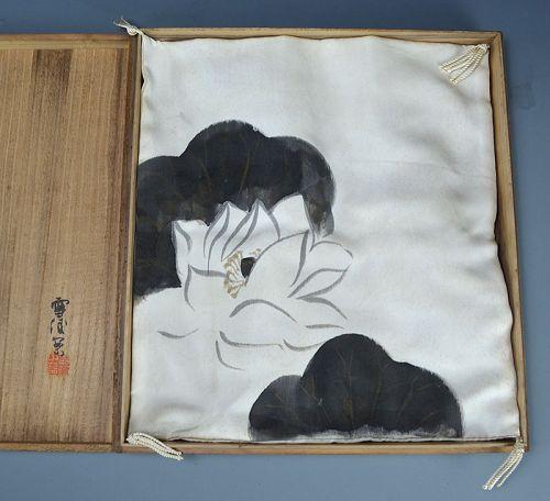 Two Silk Fukusa by Kamisaka Sekka, published