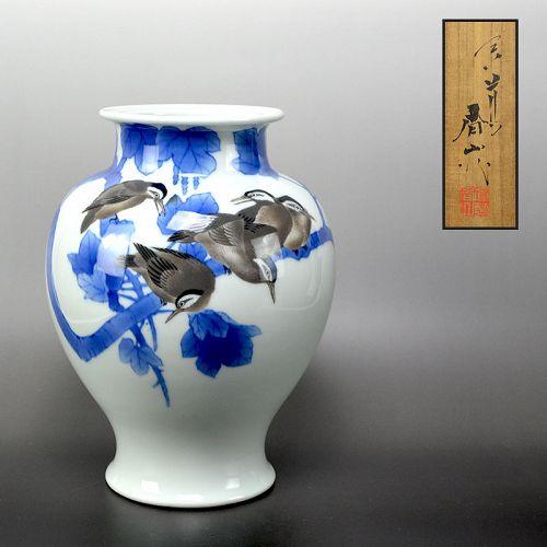 Antique Miyagawa (Makuzu) Kozan Porcelain Vase