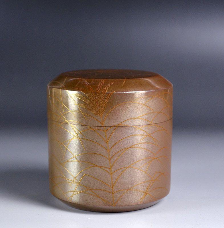 Takeuchi Kosai Silver Lacquer Natsume Tea Urn