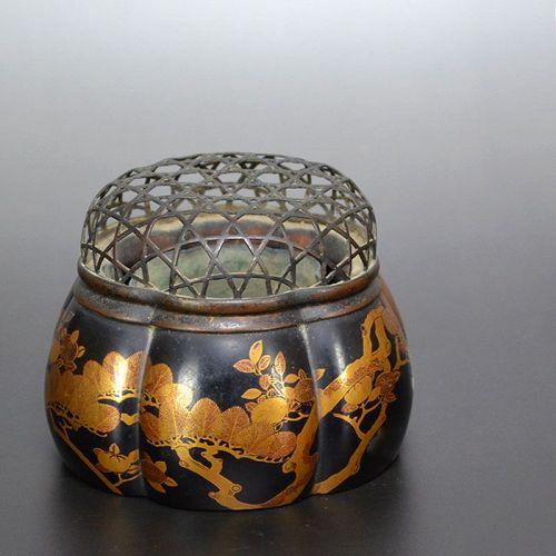 Antique Japanese Kodaiji Maki-e Lacquer Koro Censer