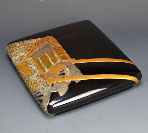 Fabulous Antique Japanese Edo p. Suzuri Bako Writing Box