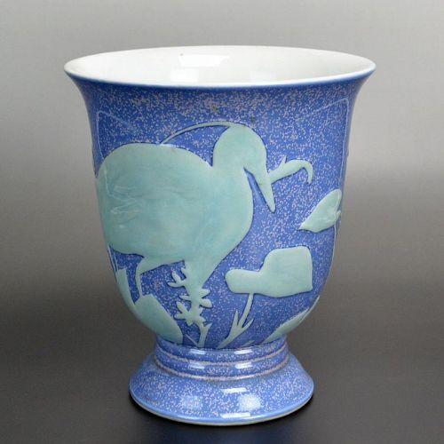 Antique Japanese Porcelain Vase by Sawada Sozan