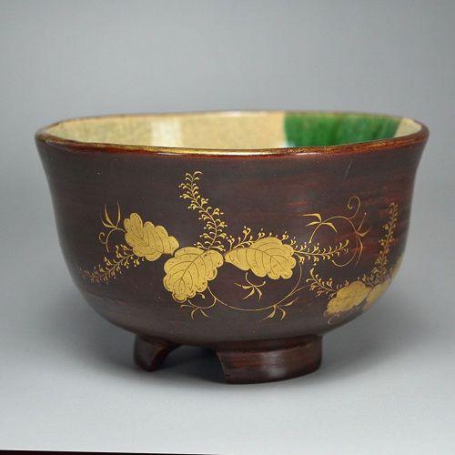 Antique Japanese Toyoraku Chawan Tea Bowl