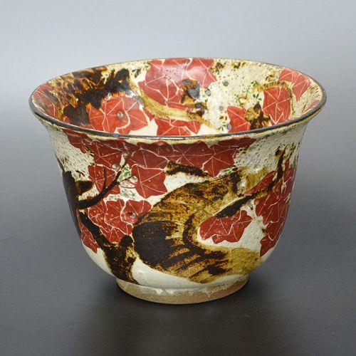 Antique Japanese Maple & Cherry Blossom Bowl, Dohachi