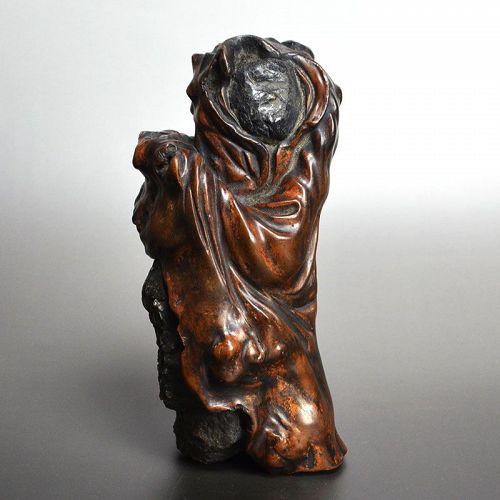 Spectacular Ishigami Daruma Scholar Art Object