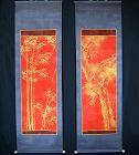 Spectacular Taisho p. Kinrande Scroll Set by Hirai Chokusui