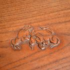 Japanese Kadai Display Table carved w/ Frolicking Frogs