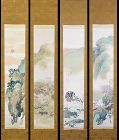Colors of the 12 Months, Scroll set by Hayashi Bunto A