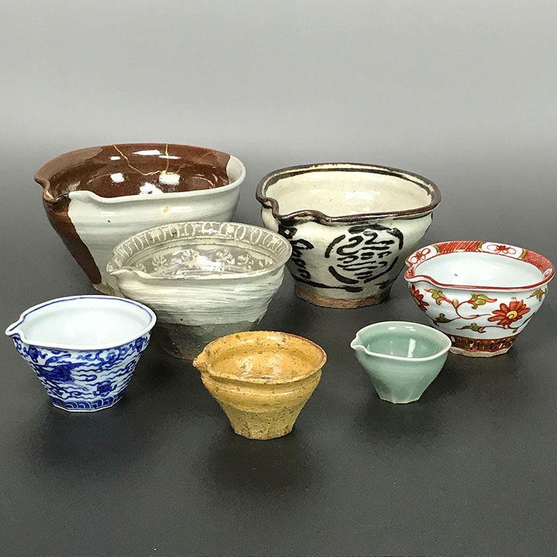 Set 7 nesting cups by Kiyomizu Rokubei IV