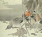 LOVELY Japanese LOTUS SCROLL, ROEN, 1912