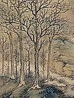 1936 Japanese Nanga Landscape Scroll, HAKUUN