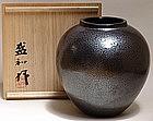 Massive Tenmoku Vase by Kimura Morikazu