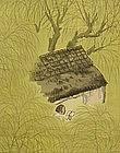 Taisho style Japanese Scroll by Hirai Baisen