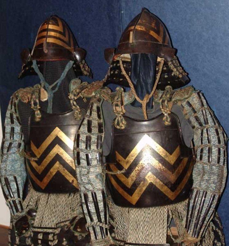 Very Rare! Two Matching Edo period Ashigaru Armor Yoroi