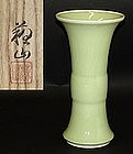 Large Antique Japanese Porcelain Vase by Suwa Sozan