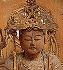 Antique Japanese Sandalwood Buddhist Image