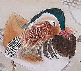 Antique Japanese Plum Screen, Ryukyo