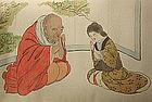 Antique Japanese Shunga Makimono, Kawabata Gyokusho