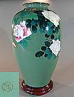 Antique Japanese Ando Cloisonne Vase