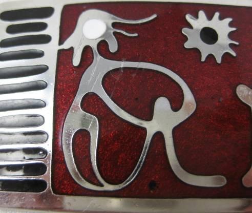 de Passille-Sylvestre Enamel Modernist Pin