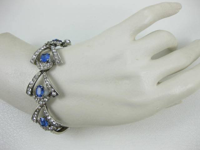 Rare Marcel Boucher Parisina Paste Sterling Bracelet