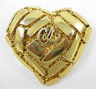 Christian Lacroix Signature Heart Pin