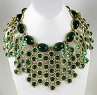Spectacular William Delillo Museum Quality Bib Necklace